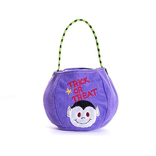 Ouken Halloween Non-gewebte Taschen tricksen oder behandeln Geschenktaschen Party Goodie Tote Taschen behandeln Tasche mit Griffen Party Gefälligkeiten, Vampir (Oder Halloween-party Behandeln Trick)