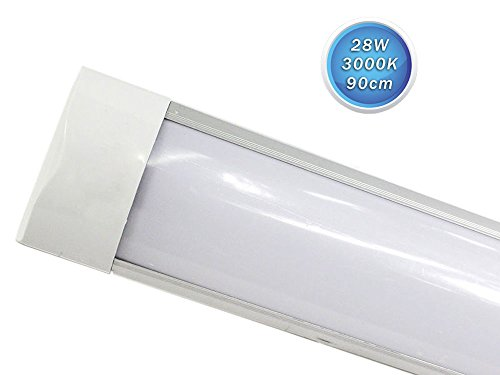 Plafoniere Neon 120 Cm : Vetrineinrete® plafoniera led slim sottopensile tubo neon 9 19 28 38
