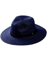iBaste Verano Sombrero Paja de Ala Ancha Gorra de Playa Panamá Remache de  Cuero Decoración Jazz 021c34a086f