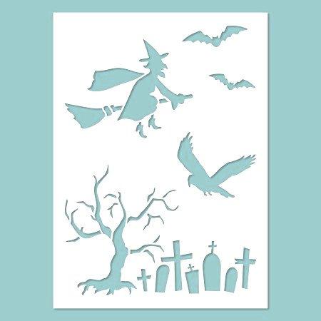 Zita's Creative Schablone - Halloween 01. Schablone, Stencil