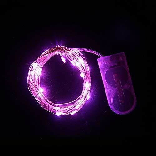 LED-Lichterkette Kupferdraht Lichtknopf Batteriekasten Kupferdraht Weihnachtslaterne im Freien Gartendekoration Lichterkette Pulver Licht 1 Meter 10 Licht, warmweiß, offene Abdeckung ist hell