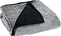 Black Grey : Cabela's Lodge Collection Tipped Faux-Fur Throw 60
