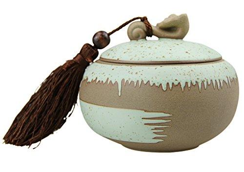 FakeFace Keramik Teedosen Kaffeedosen Vorratsdose Küchenaufbewahrung Organizer Tee Zubehör für...