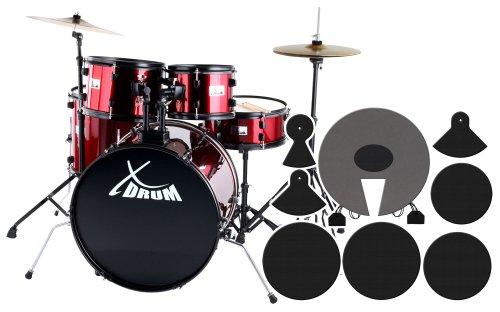 XDrum Rookie Schlagzeug Set Drumset Rot (22