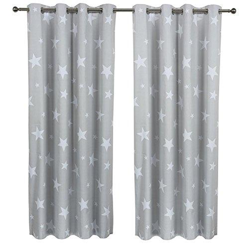 Sherwood 1 par los ni os star blockout con revestimiento de cortina con ojales ventana drape - Cortinas contemporaneas ...