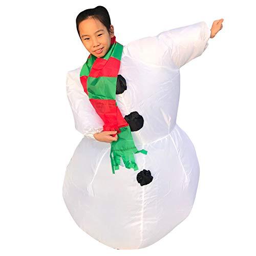 GYFY Weihnachtsschneemann-aufblasbare Kleidungs-Karikatur-kreative Puppen-Partei-aufblasbares Charakter-Behandlungs-Kostüm,Child