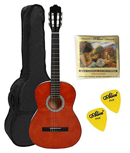 Navarra nv 4/4 chitarra classica con borsa, miele con n.2 plettri e n.1 muta di corde