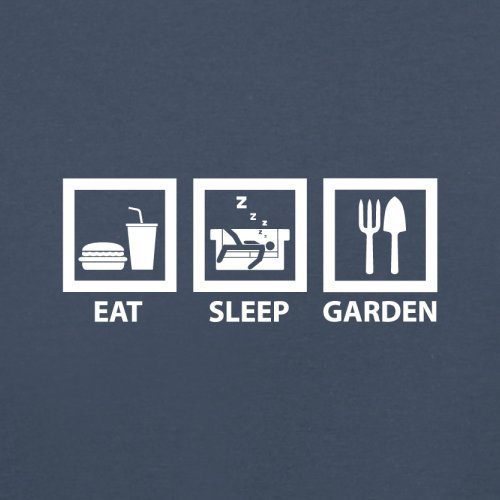 Eat Sleep Garden - Herren T-Shirt - 13 Farben Navy