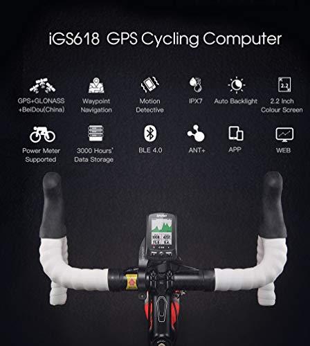 iGS618 (versión española) - Ciclo computador grabador datos y rutas GPS GLONASS...