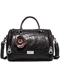 8f00fc3beacc8 Xiying Vintage Umhängetasche Damen Kunstleder Wasserdicht Messenger Bag  Elegant Handtasche Blumen Frauentasche Klein