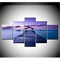 sxkdyax No frame Canvas Painting landscape Dawn of the Maldives 5 Pieces Wall Art Painting Modular Wallpapers Poster Print living room Home Decor