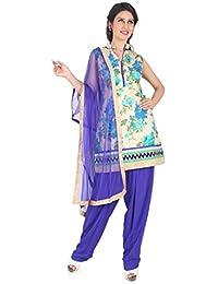 Patiala Salwar Suit India Salwar Kameez Bollywood Partywear - (FLO9850)