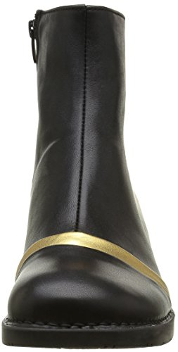Art Bristol Panel Zip, Stivali Donna Nero (Star Black-Gold)