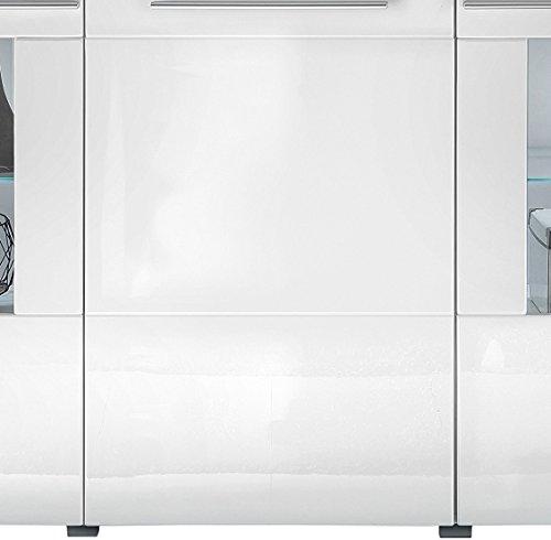 trendteam VIS87301 Sideboard Weiß Hochglanz, BxHxT 163 x 97 x 40 cm - 5
