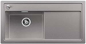 BLANCO zenar XL 6S à vapeur Plus, évier de cuisine évier de granit en SILGRANIT PuraDur, 1pièce, gris, 519283