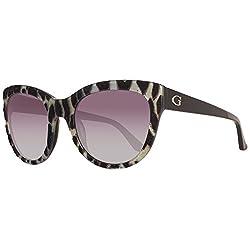 GUESS Womens Acetate Soft Cat-Eye Cateye Sunglasses, 05B, 56 mm