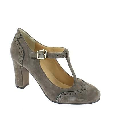 Bruno Premi Women Court Shoes, Grey/Black, 39