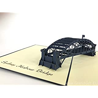 Sydney Harbour bridge most 3D Pop Up Greeting Cards Anniversary Baby Birthday Easter Halloween Mother's Father's Day New Home New Year Thanksgiving Valentine Wedding Christmas