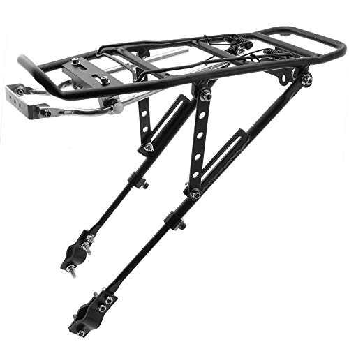Cablematic - Portaequipajes metálico trasero bicicleta