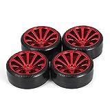 4 Stücke 1/10 RC Drift Auto Reifen Felge Hard Wheel Reifen für Traxxas HSP Tamiya HPI Kyosho On-Road Driften Auto RC Fahrzeug Teil