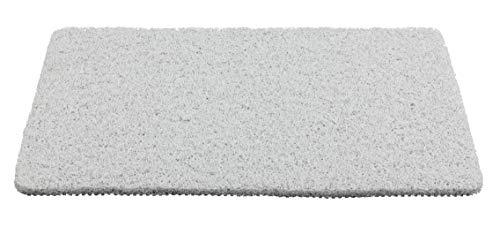 Wenko 23359100 Badematte Loop Indoor & Outdoor Weiß - Badvorleger für Dusche, Bad, Pool, Sauna mit rutschhemmender Struktur, 40 x 60 cm