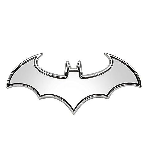 SKS Distribution® 3D Chrom Edelstahl Fledermaus Batman Hohe Qualität Auto Emblem Aufkleber Badge.