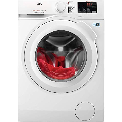 AEG L6FB1861N Freestanding Washing Machine with ProSense Technology, 8Kg Load, 1400 rpm Spin, White