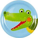 Melamin-Teller Krokodil Freche Rasselbande