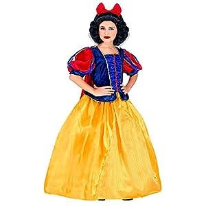 WIDMANN 09445 - Disfraz infantil de princesa de cuento (116 cm), color amarillo y azul