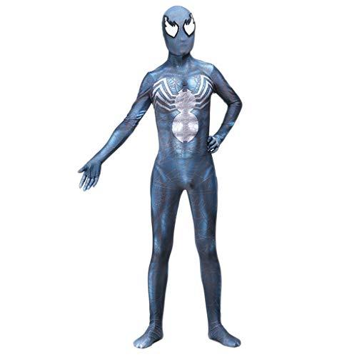 nihiug 3D Digitaldruck Spiderman New Age Peter Park Cosplay Siamesische All Inclusive Strumpfhose Spielkostüm Halloween,Blue-S