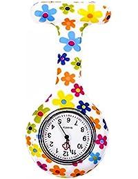 Naisicatar reloj de enfermera con broche FOB, para batas unisex de médicos y enfermeras,
