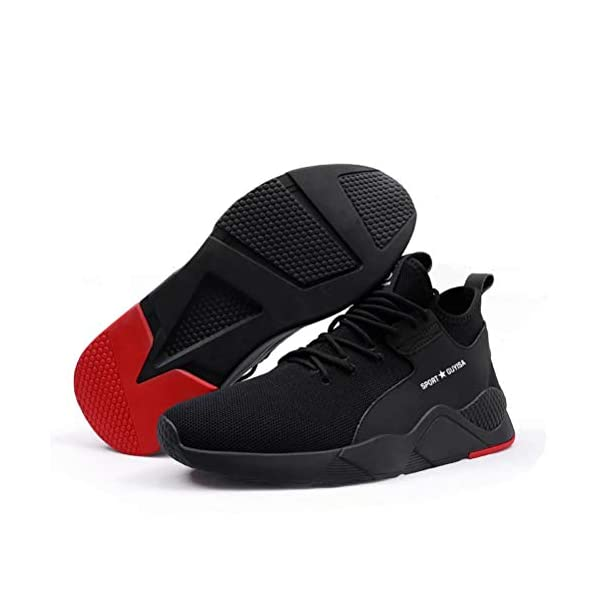 Hombre Calzado de Seguridad S3 Mujer Zapato Trabajo Antideslizante Transpirable Ligeras Zapatos de Industria Unisex