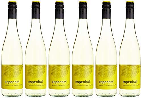 Weingut Espenhof weisses Espenblatt QbA fruchtig Cuvée 2018 halbtrocken (6 x 0.75 l)