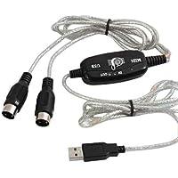 DIGIFLEX Adattatore Cavo Midi USB per Tastiera Musicale a PC, Portatile, XP, Vista, Win 7 e Mac -