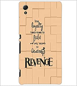 PrintDhaba Quote D-5935 Back Case Cover for SONY XPERIA Z4 (Multi-Coloured)