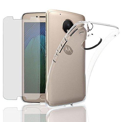 Eximmobile Silikon Case + Panzerglasfolie für Motorola Moto G 2. Generation Handyhülle mit 9H Panzerglas Schutzhülle mit Schutzfolie Handytasche Silikonhülle Tasche Hülle Panzerfolie Displayschutz