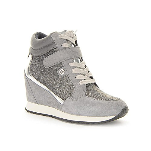 TOMMY HILFIGER Running Wedge 1C1 sneakers PELLE SILVER FW56821691 38