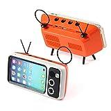 TEEPAO Mini Super Mobiler BT Lautsprecher, Speaker Musikbox, Wireless Adapter Audiogeräte Handy mit Stereo, 4 in 1 Drahtlos Receiver Kann Als Audio, Handyhalter, Digitaler Bilderrahmen, TV