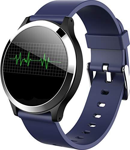 Fitness Tracker Smart Armband HD Herzfrequenz Blutdruck EKG Überwachung Gesundheit Sport Bluetooth Smart Watch Handschlaufe Geeignet für Casual Business Office,B