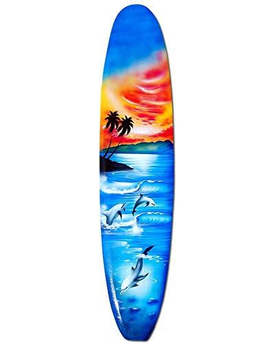 Seestern Sportswear Deko Holz Longboard Surfboard 50cm lang Airbrush Design Surfen Wellenreiten Surf /1653