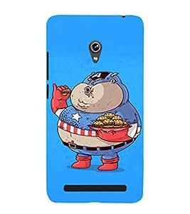 EPICCASE Funny Capatin America Mobile Back Case Cover For Asus Zenfone 5 (Designer Case)