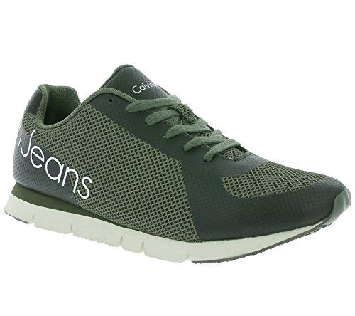 Calvin Klein Jeans Jack Mesh/Rubber Spread Hommes Sneaker Vert SE8526