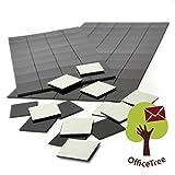 OfficeTree® - 2 x 50 láminas de imán, 20 x 20 mm, autoadhesivas para una imantación fiable de carteles, fotos o papel, fuerza de adhesión extra fuerte en pizarras blancas imantadas, color negro