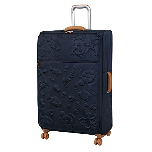 it luggage Aquatic 8 Wheel Lightweight Semi Expander Suitcase Large Valigia, 80 cm, 127 liters, Blu (Black Iris)