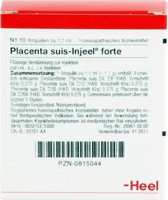 Placenta Suis Injeel forte Ampullen 10 stk
