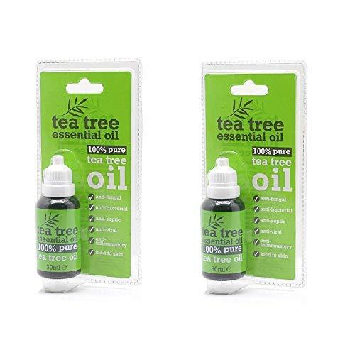 Huile Arbre à thé - Tea Tree Essential Oil 100% pure 30ml (paquet de 2)