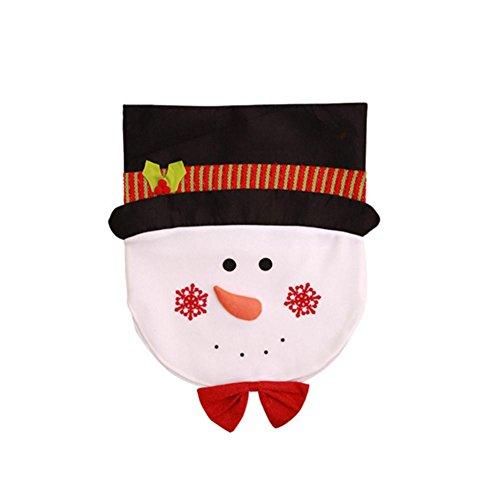 Santa Schneemann Stuhl Set Weihnachtsschmuck-Schneemann Stuhl Backcover Weihnachten Restaurant Stuhl-Set Weihnachten Stuhl Bezug B:snowman