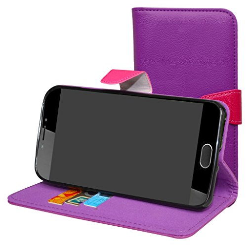 Liquid Z6 Plus Hülle,Mama Mouth Brieftasche Schutzhülle Case Hülle mit Kartenfächer und Standfunktion für Acer Liquid Z6 Plus Android 6.0 Smartphone,Violett