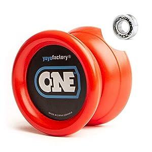 YoyoFactory One Yo-yo - Rojo (De Principiante a Profesional, Cuerda e Instrucciones Incluidas)