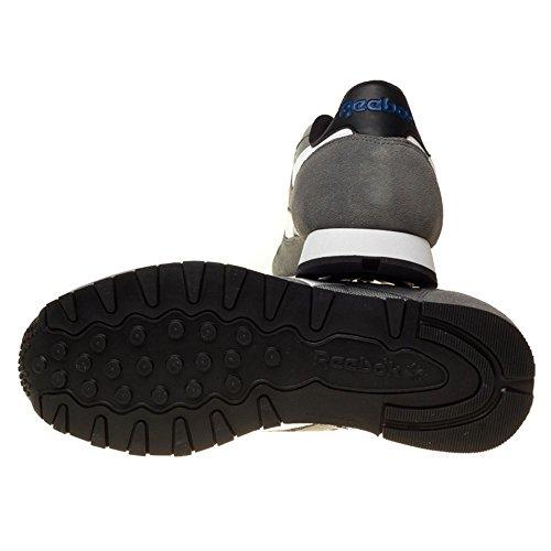Reebok Classic Sport Clean, Scarpe da Corsa Uomo Grigio/bianco/nero (Shark/Flat Grey/White/Black/Colletiate R)